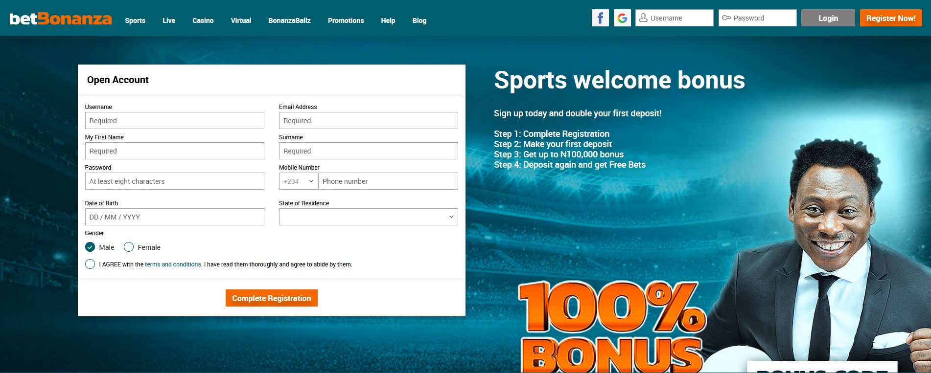 BetBonanza registration