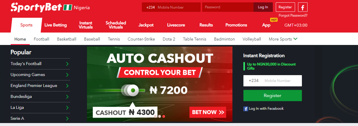 Design and functionality SportyBet