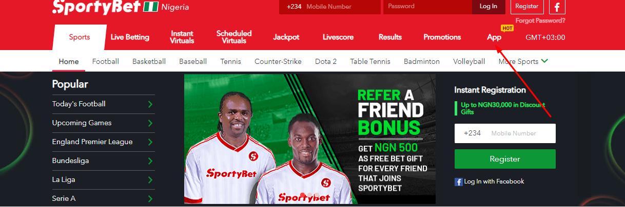 App SportyBet