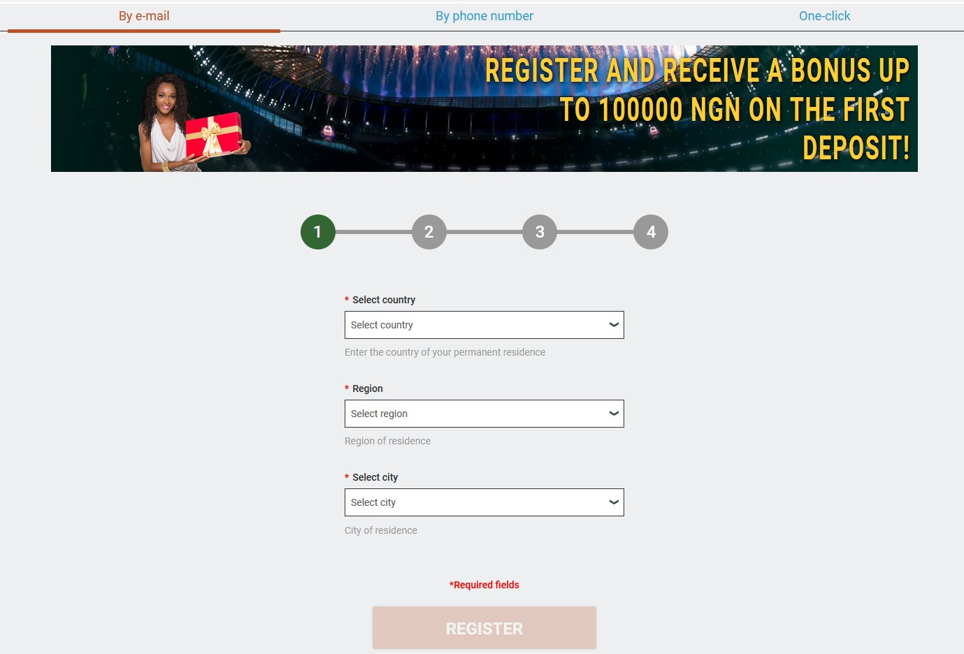 Melbet registration