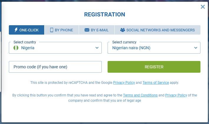 registration 1xbet